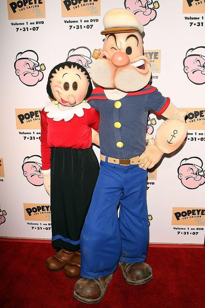 <p>The brawny sailor and the spunky, not-so-damsel-in-distress, Popeye and Olive Oyl are great for the rough and tumble, indomitable couple.</p>