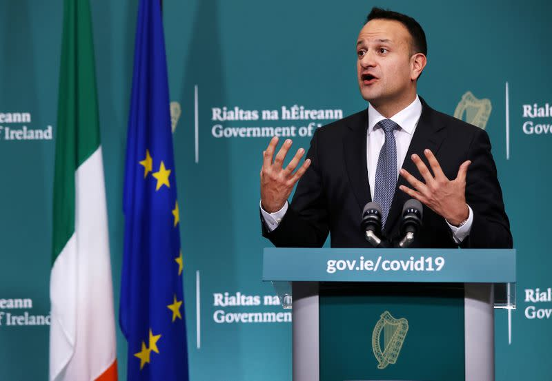 News conference on the ongoing situation with the coronavirus disease (COVID-19) in Dublin