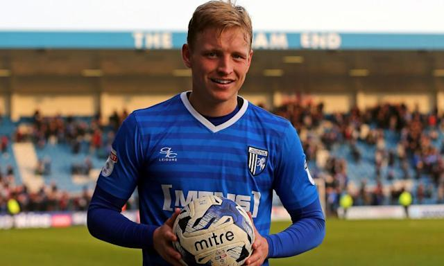 Football League: Josh Wright scores three penalties in nine minutes for Gillingham