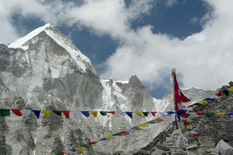 <p>A general view from Everest Base Camp towards the summit of Mount Everest </p> (AFP/Getty)