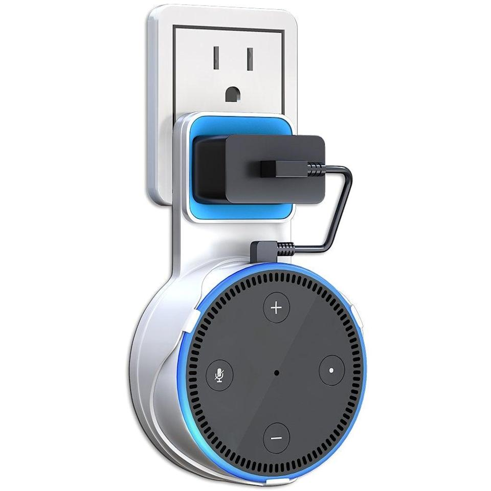 <p>If you want to hang your Amazon Echo Dot on the wall, get this useful <span>Matone Outlet Wall Mount Hanger Stand </span> ($8).</p>
