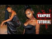 """<p>This tutorial shows you how to dress as a newly-minted vampire, complete with the (very bloody) signature neck bite. </p><p><a class=""""link rapid-noclick-resp"""" href=""""https://www.amazon.com/TOPSER-Temporary-Tattoos-Realistic-Waterproof/dp/B08CR6R2ZT?tag=syn-yahoo-20&ascsubtag=%5Bartid%7C10072.g.37080875%5Bsrc%7Cyahoo-us"""" rel=""""nofollow noopener"""" target=""""_blank"""" data-ylk=""""slk:SHOP FAKE WOUNDS"""">SHOP FAKE WOUNDS</a></p><p><a href=""""https://www.youtube.com/watch?v=vcIKsBw1WI8"""" rel=""""nofollow noopener"""" target=""""_blank"""" data-ylk=""""slk:See the original post on Youtube"""" class=""""link rapid-noclick-resp"""">See the original post on Youtube</a></p>"""