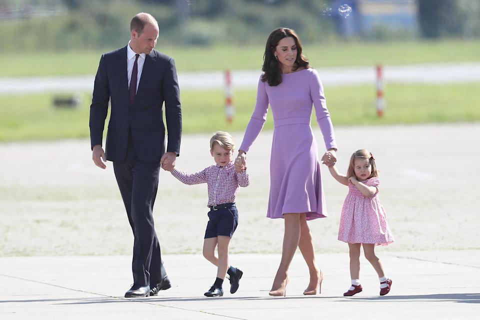 Prince William and Prince George are second and third in line to the throne, respectively. (Photo: Chris Jackson/Getty Images)