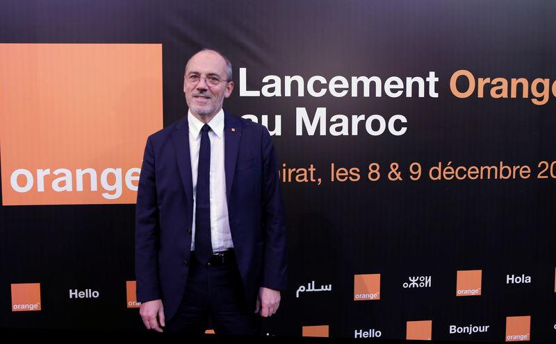 Chairman and CEO of French telecom operator Orange Stephane Richard poses for photographs after a press conference in Skhirat