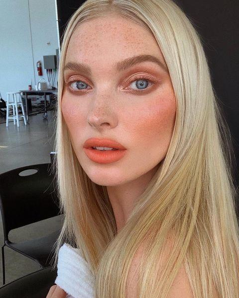 """<p>An <strong><a href=""""https://go.redirectingat.com?id=74968X1596630&url=https%3A%2F%2Fwww.sephora.com%2Fproduct%2Fpatrick-ta-major-headlines-matte-suede-lipstick-P458748&sref=https%3A%2F%2Fwww.cosmopolitan.com%2Fstyle-beauty%2Fbeauty%2Fg35217353%2Fbest-spring-2021-makeup-trends%2F"""" rel=""""nofollow noopener"""" target=""""_blank"""" data-ylk=""""slk:orange lip"""" class=""""link rapid-noclick-resp"""">orange lip</a> is bolder than your classic pinks and reds,</strong> but that's what adds to the cool factor. And once you find the right shade for your skin tone, you'll feel super glam from the moment you swipe on this spring 2021 makeup trend.</p><p><a href=""""https://www.instagram.com/p/CHS1ftzJBR3/"""" rel=""""nofollow noopener"""" target=""""_blank"""" data-ylk=""""slk:See the original post on Instagram"""" class=""""link rapid-noclick-resp"""">See the original post on Instagram</a></p>"""