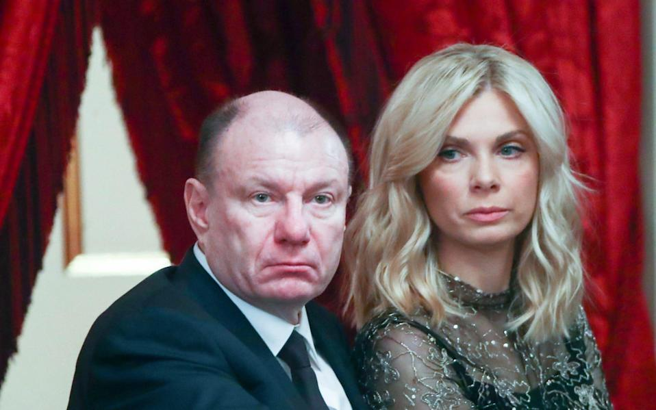 Vladimir Potanin and his wife Yekaterina attend a gala event to mark the upcoming New Year 2019 at the Bolshoi Theatre - Valery Sharifulin/TASS