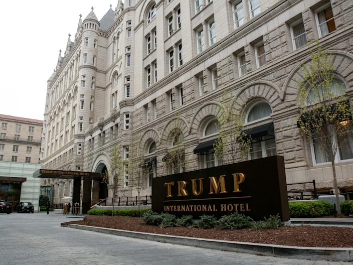 "A general view of the Trump International Hotel seen in Washington, DC. <p class=""copyright"">Reuters</p>"