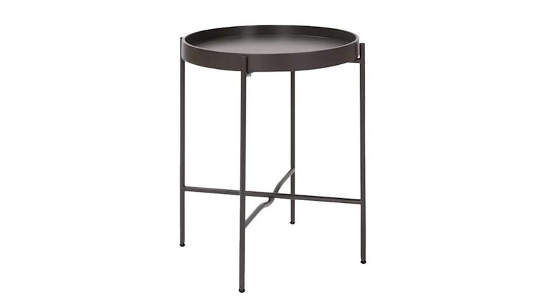 Metal Circular Bedside Table