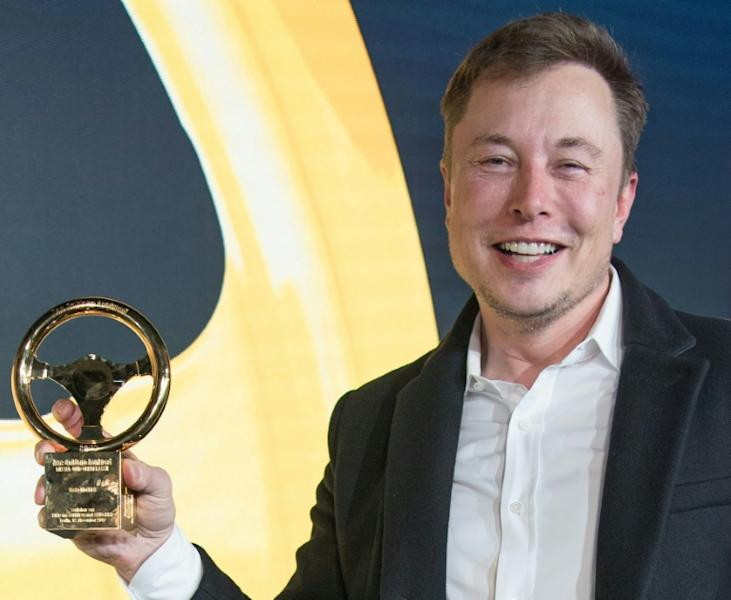 "Elon Musk hailed hailed ""outstanding"" German engineering as a factor in his choice of a site near Berlin (AFP Photo/Jörg Carstensen)"