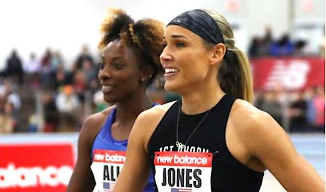 Olympian Lolo Jones Tries To Weightlift A Couch And It Doesn't Go Well