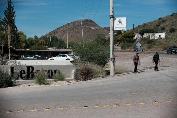 PHOTO: A sign announces the entry to Colonia LeBaron, one of many locations where the extended LeBaron family lives in the Galeana municipality of Chihuahua state, Mexico, Tuesday, Nov. 5, 2019. (Christian Chavez/AP)
