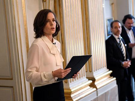 Permanent Secretary of the Swedish Academy Sara Danius announces that Bob Dylan is awarded the 2016 Nobel Prize in Literature during a presser at the Swedish Academy at the Old Stockholm Stock Exchange Building in Stockholm, Sweden, October 13, 2016. TT News Agency/Jonas Ekstromer/via REUTERS