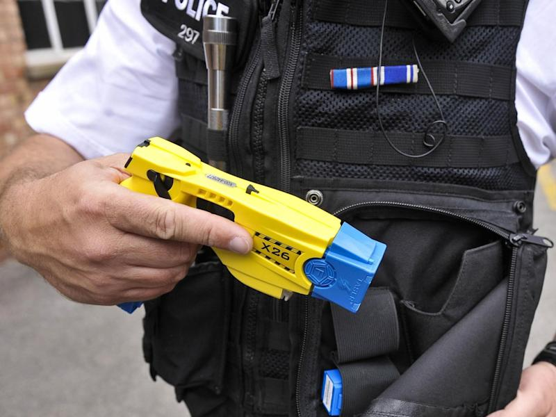 A police issue Taser. The Independent Office for Police Conduct (IOPC) has called for greater scrutiny on the use of Tasers: PA