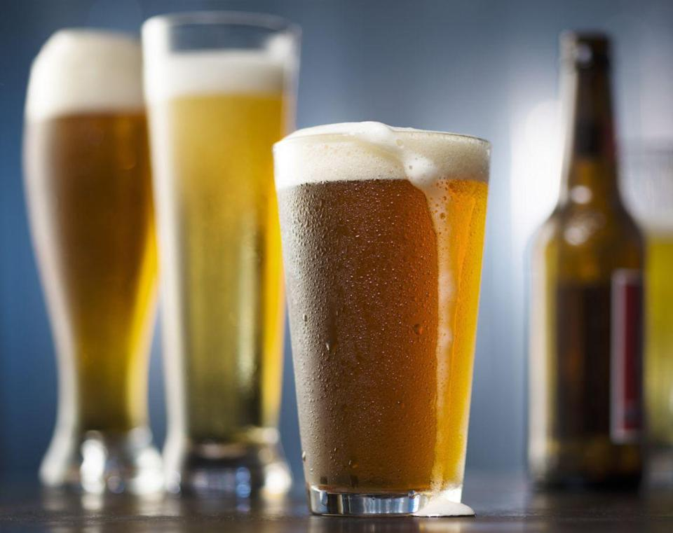 """<p>To add body to hair, reach for an unlikely beauty beverage: beer! The <a href=""""https://www.doctoroz.com/recipe/beer-hair-conditioner"""" rel=""""nofollow noopener"""" target=""""_blank"""" data-ylk=""""slk:fermented drink"""" class=""""link rapid-noclick-resp"""">fermented drink</a> contains generous supplies of yeast and B vitamins, which works to plump tired strands, Cox explains.</p><p><strong>To use:</strong> Mix 1/2 cup flat <a href=""""https://www.womansday.com/life/g3235/beer-gifts/"""" rel=""""nofollow noopener"""" target=""""_blank"""" data-ylk=""""slk:beer"""" class=""""link rapid-noclick-resp"""">beer</a> (pour beer into a container and let it sit out for a couple of hours to deplete carbonation) with 1 tsp light oil (sunflower or canola) and a raw egg. Apply to clean, damp hair, let sit for 15 minutes, then rinse with cool water. Or add flat beer only to a spray bottle and spritz onto dry hair. """"When the liquid evaporates, the remaining protein residue (from the wheat, malt or hops) continues to strengthen and structure hair,"""" Belkin says. Treatments can be applied every other week.</p>"""