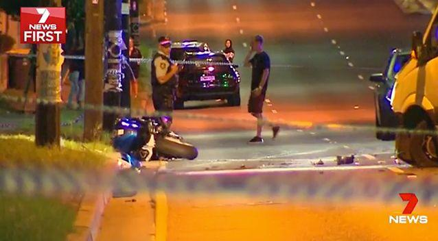 Fathi died after his bike crossed the median strip and hit a van at Wiley Park on Thursday night. Photo: 7 News