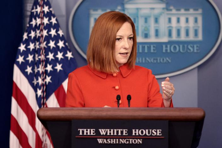 White House press secretary Jen Psaki answers questions in the White House press briefing room on September 15, 2021 in Washington, DC. (Win McNamee/Getty Images)