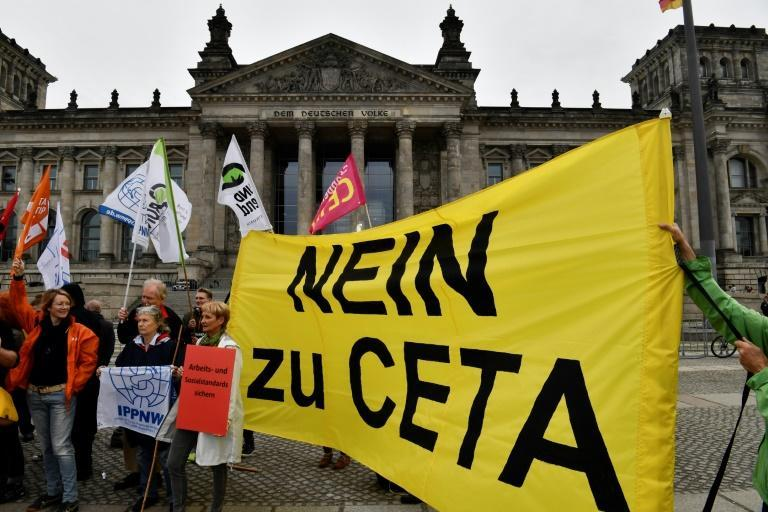Demonstration gegen Ceta in Berlin
