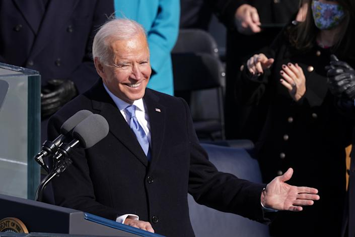 President Joe Biden also matched the First Lady's elegance in a fitted and classy Ralph Lauren suit.