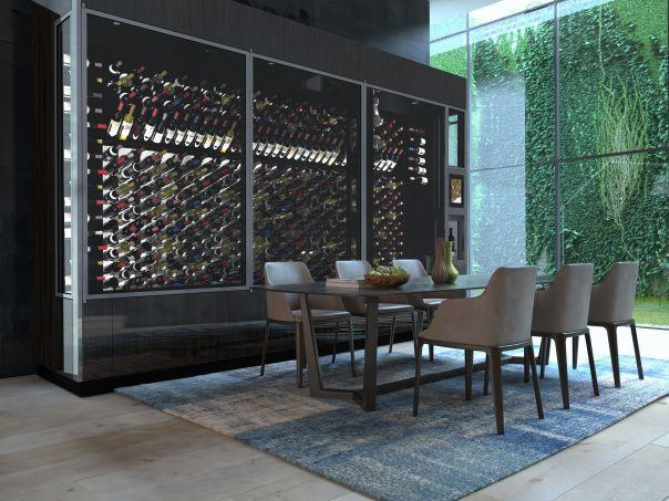 A sleek wine vending machine on steroids, the WineWall is for the serious oenophile. Photo courtesy of WineCab