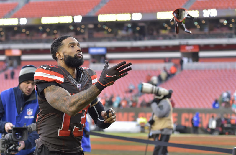 On Friday, Cleveland Browns receiver Odell Beckham Jr. tried to clarify his comments from the previous day. (AP/David Richard)