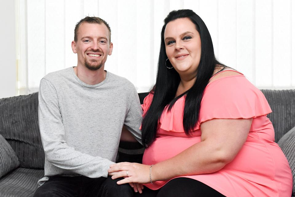 Emma and Stuart have spoken out about their mix-weight relationship. Photo: Caters News