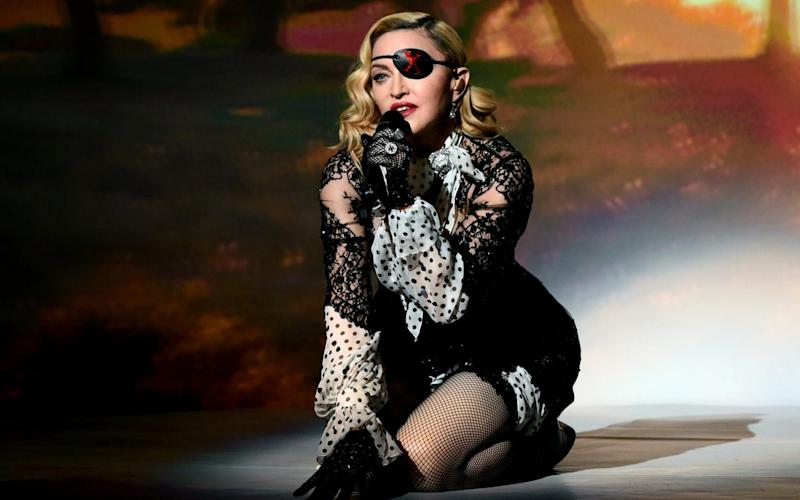 Madonna, performing at the Billboard Music Awards, Las Vegas, on May 1 - Getty Images North America