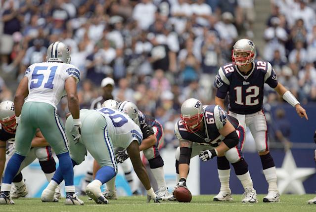 Brady vs. Dallas back in 2007. (Photo by Ronald Martinez/Getty Images)