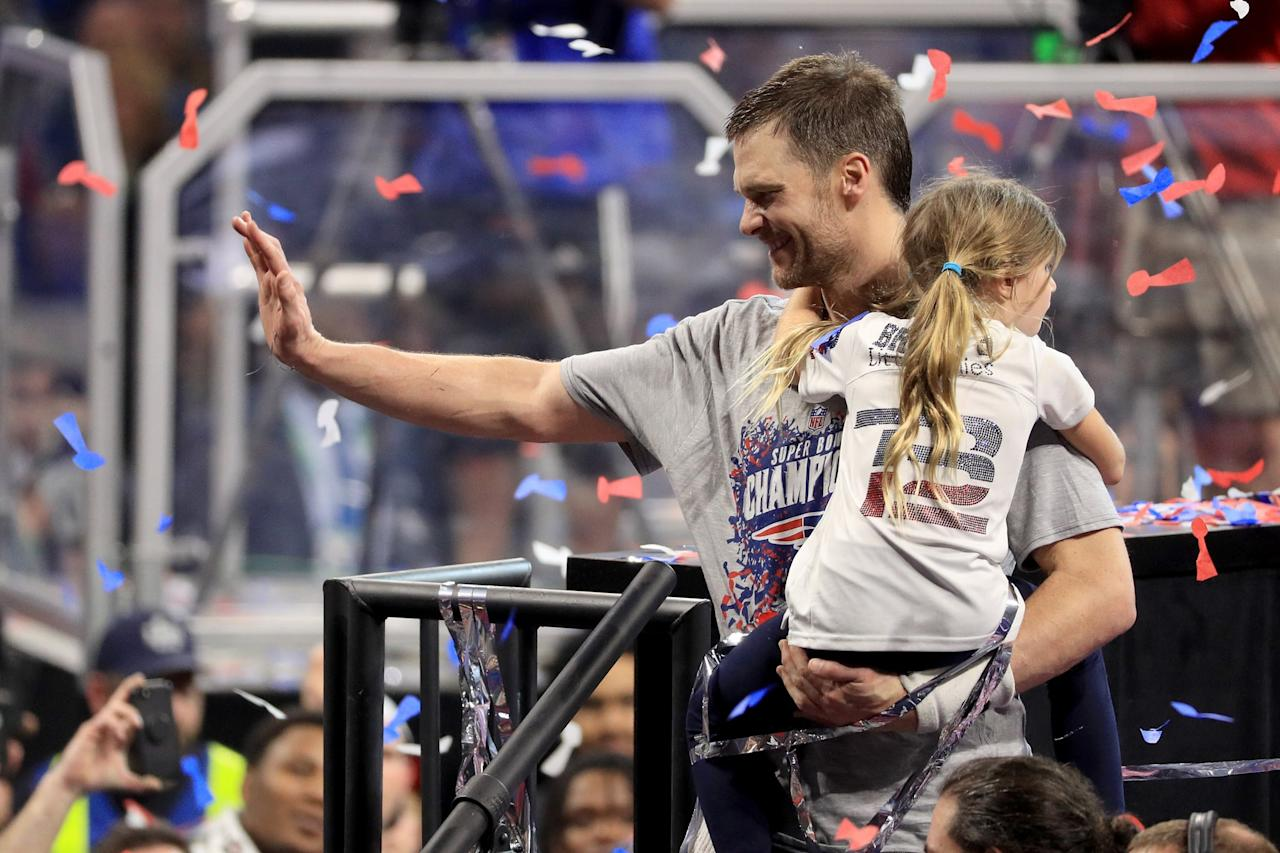 Tom Brady's Wife and Kids Are His Biggest Cheerleaders After His