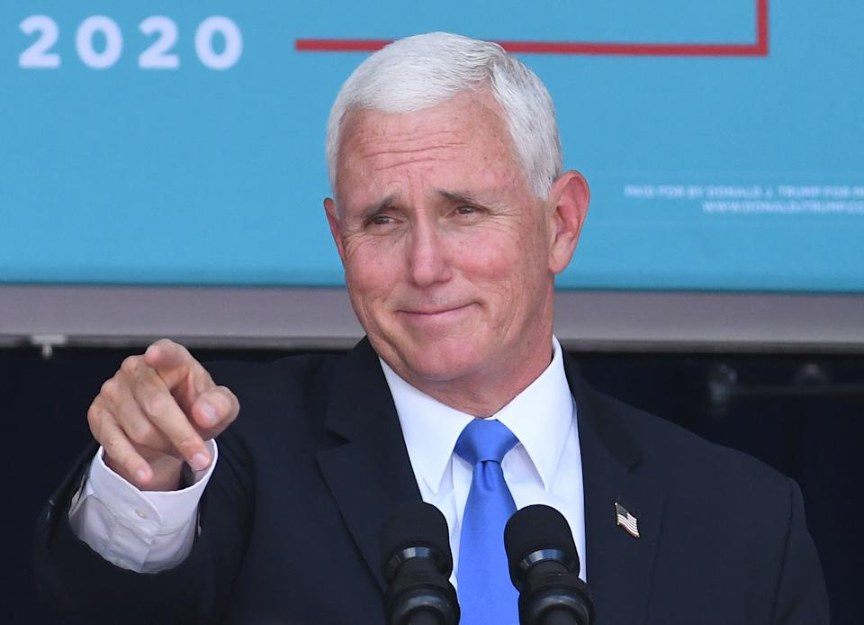 Mike Pence. (Photo by Paul Hennessy/NurPhoto via Getty Images)