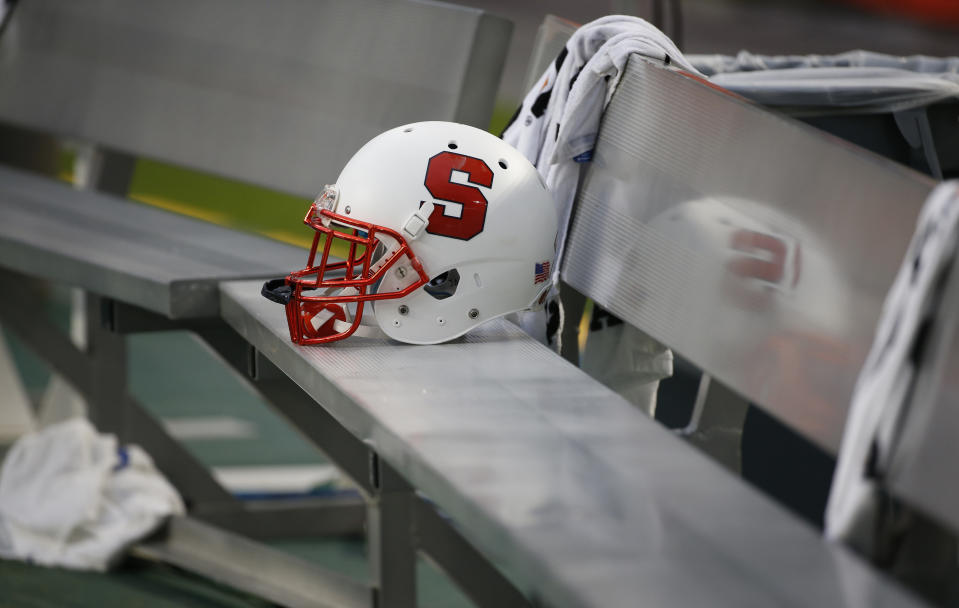 Syracuse is supposed to play Liberty on Oct. 17. (AP Photo/Wilfredo Lee)