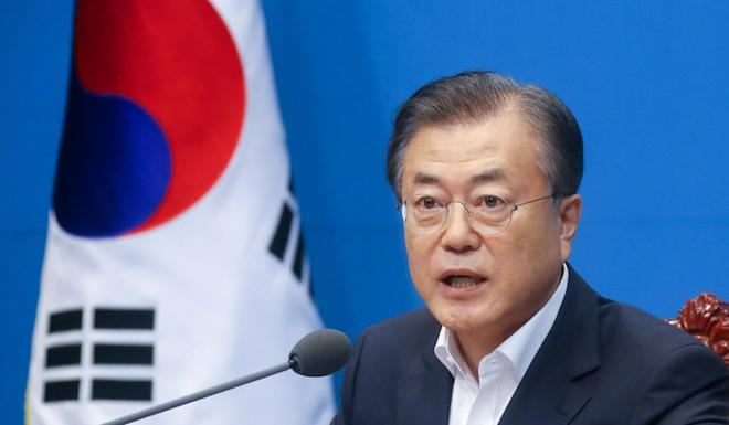 China's top diplomat is expected to meet South Korean President Moon Jae-in on Thursday. Photo: EPA-EFE