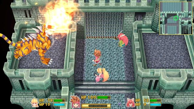 Combat can be more difficult in the 'Secret of Mana' remake than its original.