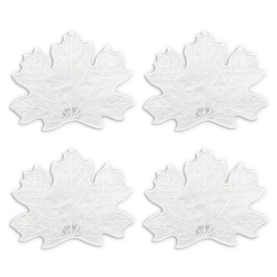"""<p>chefanie.com</p><p><strong>$45.00</strong></p><p><a href=""""https://chefanie.com/products/maple-leaf-cocktail-napkins"""" rel=""""nofollow noopener"""" target=""""_blank"""" data-ylk=""""slk:BUY NOW"""" class=""""link rapid-noclick-resp"""">BUY NOW</a></p><p>These pretty maple leaf cocktail napkins are totally on point for the season. </p>"""
