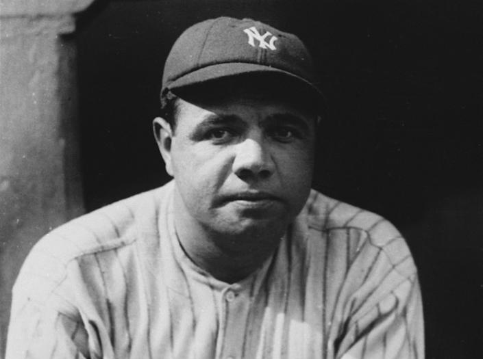 """New York Yankees legend Babe Ruth hit a two-run home run during baseball's first All-Star game in 1933. <span class=""""copyright"""">(Associated Press)</span>"""