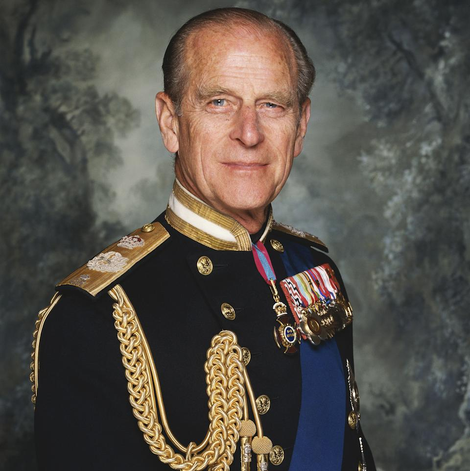 WARNING: Embargoed for publication until 00:00:01 on 08/09/2021 - Programme Name: Prince Philip: The Royal Family Remembers - TX: n/a - Episode: Prince Philip: The Royal Family Remembers (No. n/a) - Picture Shows: *EMBARGOED UNTIL 14:30hrs 08/09/2021*  HRH Prince Philip, Duke of Edinburgh Official royal portrait in full military regalia. 1992 Licensed by Iconic Images   - (C) Oxford Films / Iconic Images - Photographer: Terry O'Neil