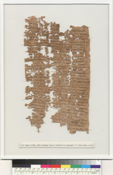 Dating back about 1,800 years, this letter was written, mainly in Greek, by Aurelius Polion, an Egyptian man who served with the legio II Adiutrix legion around modern-day Hungary. In the letter, discovered more than a century ago in the Egypti