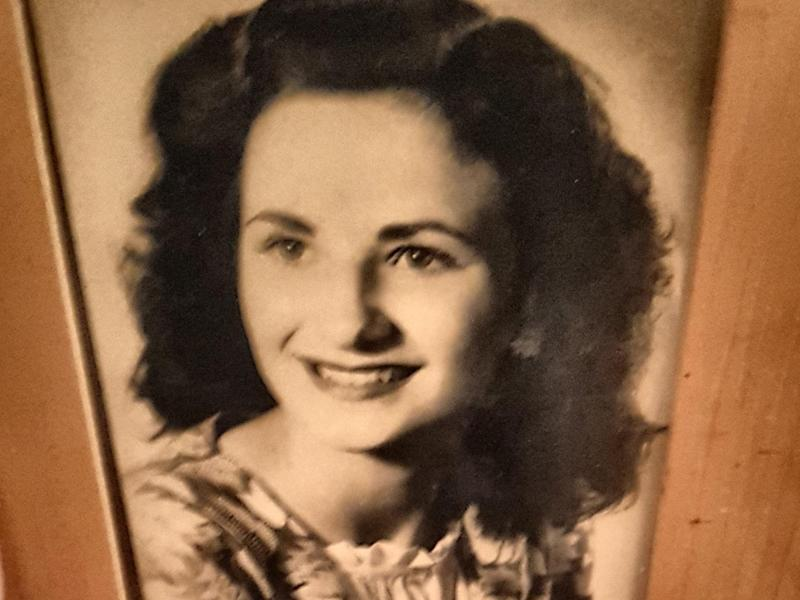 A photo of Hannah, the author's mother, when she was a young woman