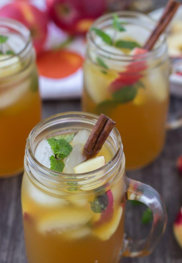 """<p>Don't say goodbye to your go-to summer drink just yet! This apple cider mojito adds an autumnal twist to a warm-weather classic. It's perfecting for cooling down after some intense leaf raking. </p><p><strong>Get the recipe at <a href=""""https://aclassictwist.com/apple-cider-mojito/"""" rel=""""nofollow noopener"""" target=""""_blank"""" data-ylk=""""slk:A Classic Twist"""" class=""""link rapid-noclick-resp"""">A Classic Twist</a>. </strong></p><p><a class=""""link rapid-noclick-resp"""" href=""""https://go.redirectingat.com?id=74968X1596630&url=https%3A%2F%2Fwww.walmart.com%2Fip%2FNorth-Mountain-Supply-Glass-Pint-Mug-Handle-Mason-Drinking-Jars-Case-of-12%2F494009759&sref=https%3A%2F%2Fwww.thepioneerwoman.com%2Fholidays-celebrations%2Fg36792938%2Fhalloween-punch-recipes%2F"""" rel=""""nofollow noopener"""" target=""""_blank"""" data-ylk=""""slk:SHOP MUG HANDLE MASON JARS"""">SHOP MUG HANDLE MASON JARS</a></p>"""