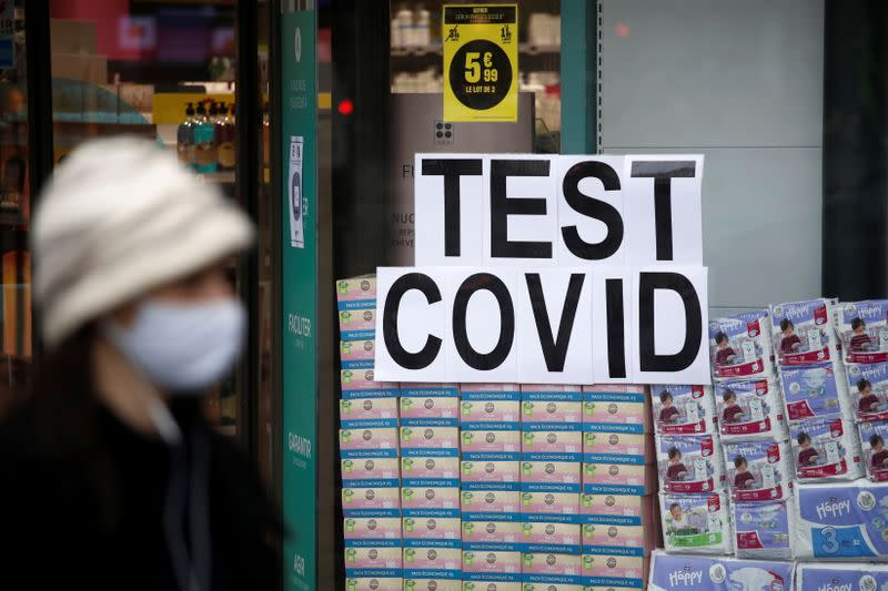Coronavirus disease (COVID-19) test center in Paris