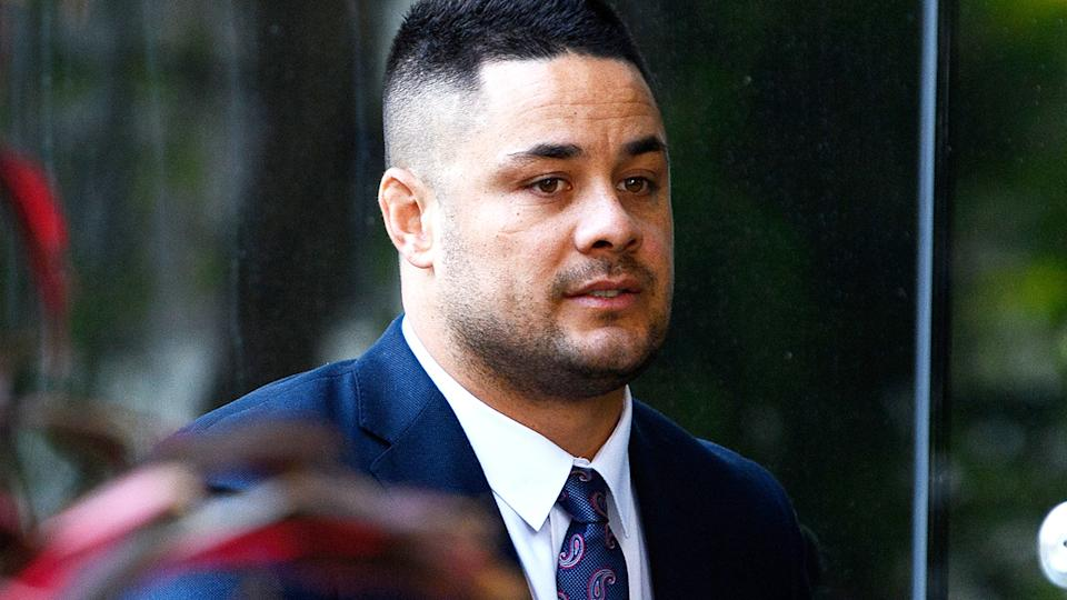 Jarryd Hayne, pictured here arriving at Newcastle Court.