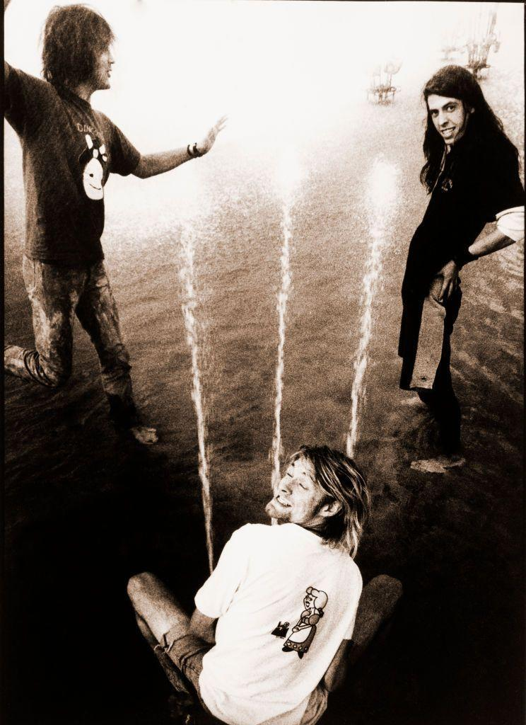 <p>Nirvana is photographed before a performance in Rotterdam, Netherlands in 1991. </p>