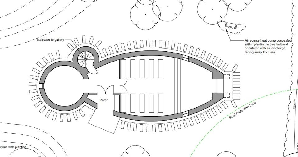 The plans for Sheeran's ark shaped prayer retreat (Credit: East Suffolk Council)