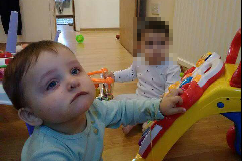 Baby twins: Gabriel was killed on Saturday