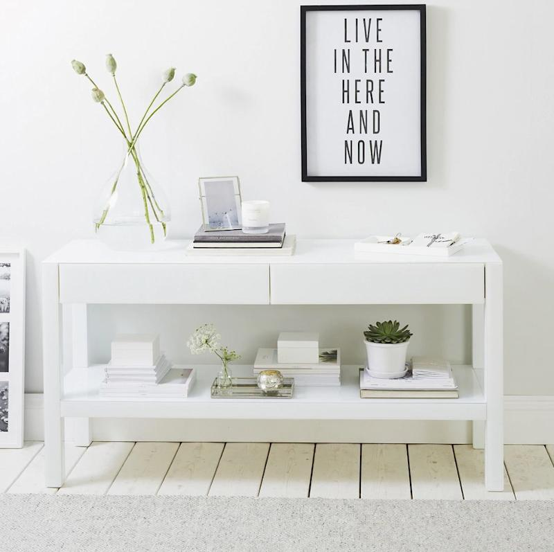 Carlton Low Console, The White Company (Photo: HuffPost UK)