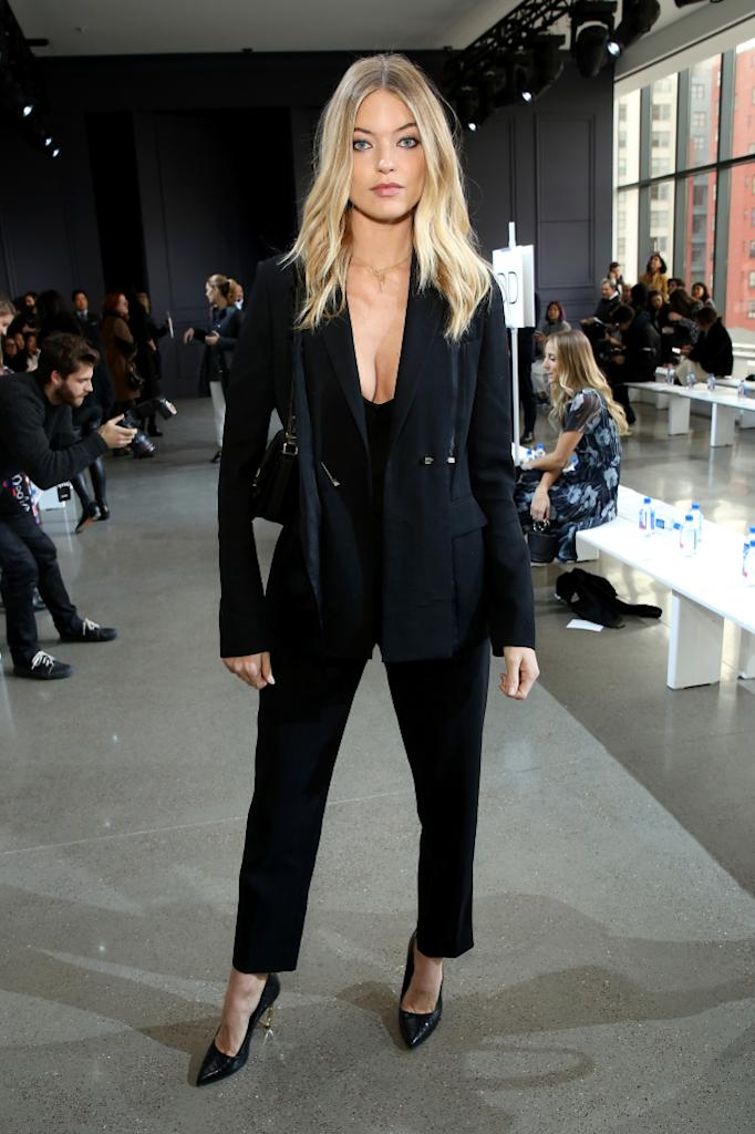 NEW YORK, NY - FEBRUARY 12: Model Martha Hunt attends the Jason Wu Fall 2016 fashion show during New York Fashion Week at Spring Studios on February 12, 2016 in New York City. (Photo by Cindy Ord/Getty Images)