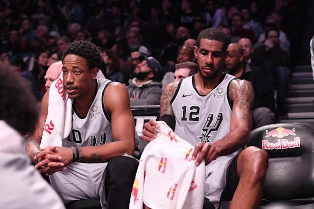 DeMar DeRozan and LaMarcus Aldridge have to be near perfect to still fit as stars in the NBA. (Matteo Marchi/Getty Images)