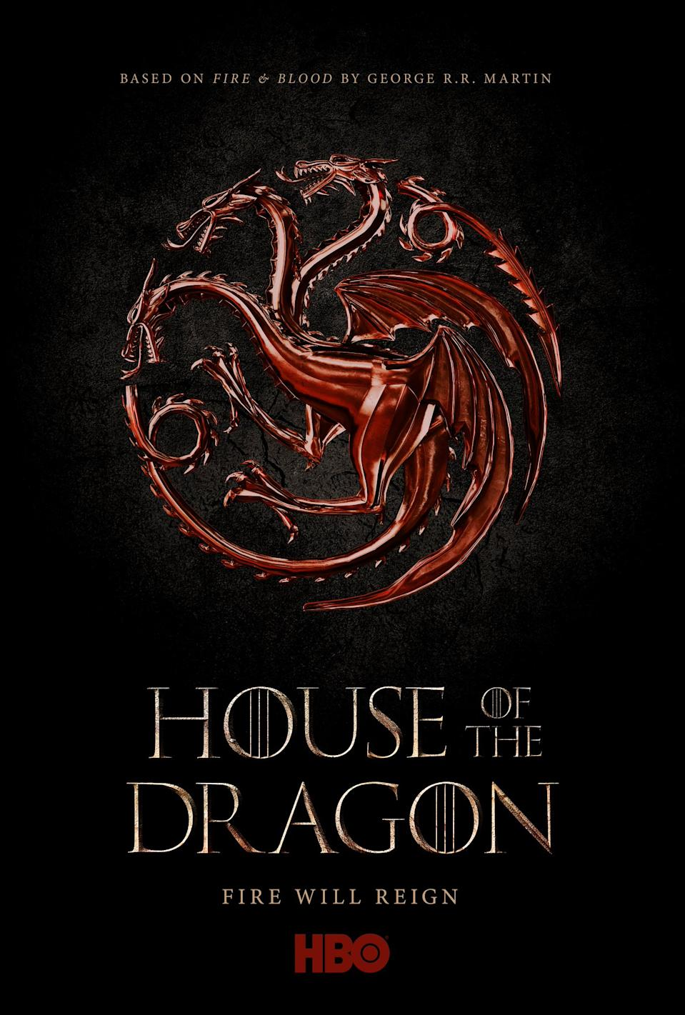 HBO's teaser poster for the 'Game of Thrones' prequel series, 'House of the Dragon' (Photo: HBO)