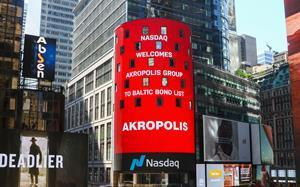 Eurobonds of Akropolis Group have been listed on Euronext Dublin and Nasdaq Vilnius stock exchanges