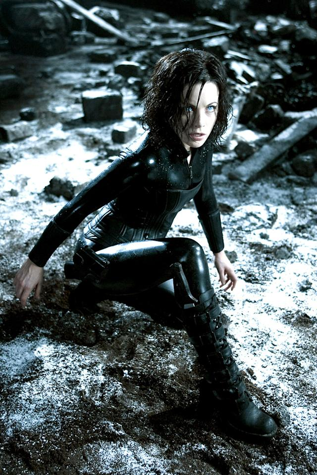 """SELENE    MOVIE: <a href=""""http://movies.yahoo.com/movie/1808421437/info"""">Underworld</a>  ACTOR: <a href=""""http://movies.yahoo.com/movie/contributor/1800020790"""">Kate Beckinsale</a>  PLACE OF ORIGIN: Unnamed city that looks like Budapest, Hungary  LAST SEEN: Fleeing Lycans.  SPECIAL ABILITIES: Skilled in acrobatics and marksmanship. Looks great in a skin-tight cat suit."""