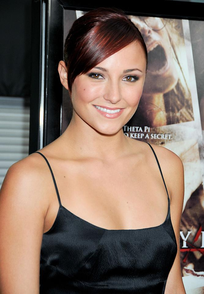"""<a href=""""http://movies.yahoo.com/movie/contributor/1800270917"""">Briana Evigan</a> at the Los Angeles premiere of <a href=""""http://movies.yahoo.com/movie/1810046336/info"""">Sorority Row</a> - 09/03/2009"""